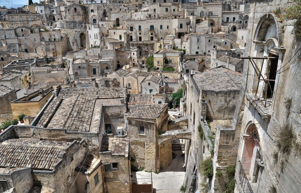 Panoramic view of Matera. Basilicata. — Stock Photo #3974154