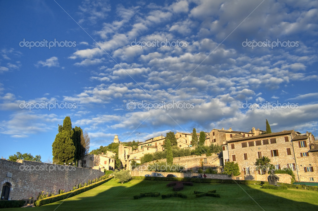 Panoramic view of Assisi. Umbria. — Stock Photo #3981626