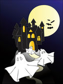Haunted castle. — Stock Vector