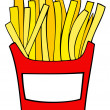 French fries. — Stock Vector