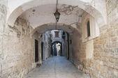 Alleyway. Bisceglie. Apulia. — Stock Photo