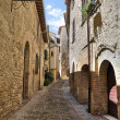 Alleyway. Montefalco. Umbria. — Stock Photo