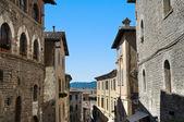 Alleyway. Gubbio. Umbria. — Stock Photo