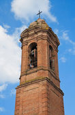 St. Agostino Belltower. Citta' della Pieve. Umbria. — Stock Photo