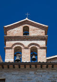 St. Marziale Belltower Church. Gubbio. Umbria. — Stock Photo