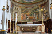 Cathedral Interior. Spoleto. Umbria. — Stock Photo