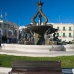 Triton Fountain. Giovinazzo. Apulia. — Stock Photo
