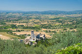 Panoramic view of Assisi. Umbria. — Zdjęcie stockowe