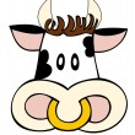 Dairy cow face. — Stock Vector