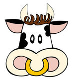 Dairy cow face. — Stock Vector