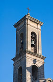 St. Luigi Belltower Church. Bitritto. Apulia. — Stock Photo