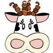 Royalty-Free Stock Vector Image: Dairy cow face.