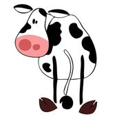 Funny dairy cow. — Stock Vector