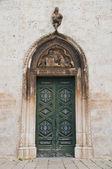 Wooden Portal Church. — Stock Photo