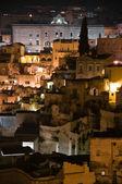Matera by night. Basilicata. — Stockfoto