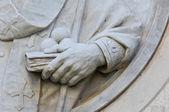 Detail of St. Nicola Statue. — Stock Photo