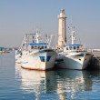 View of Molfetta seaport. Apulia. - Foto Stock