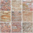 Stock Photo: Brickwall Collage.