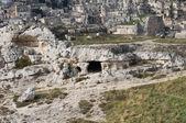 Palaeolithic cave. Matera. Basilicata. — Stock Photo