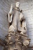St. Benedetto Statue. Conversano. Apulia. — Stock Photo