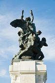 Památník války. rutigliano. apulie. — Stock fotografie