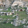 Palaeolithic caves. Matera. Basilicata. — Stock Photo