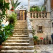De Ritiis Court. Giovinazzo. Apulia. - Stock Photo