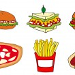 Stock Vector: Fast food group.