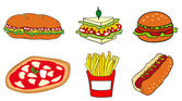 Fast food group. — Stock Vector