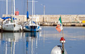 View of Bisceglie seaport. Apulia. — Stock Photo