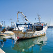 Stock Photo: Fishing trawlers.