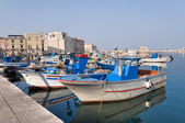 Panoramic view of Trani seaport. Apulia. — Stock Photo