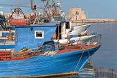 Panoramic view of Trani seaport. Apulia. — Foto de Stock