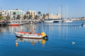 Panoramic view of Bari seaport. Apulia. — ストック写真