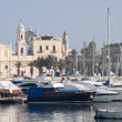 Panoramic view of Trani seaport. Apulia. - Stock Photo