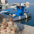 View of Trani seaport. Apulia. — Stock Photo