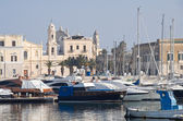 Panoramic view of Trani seaport. Apulia. — Stockfoto