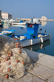 View of Trani seaport. Apulia. — Stock Photo