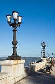 Panoramic view of Bari seafront. Apulia. — Foto de Stock