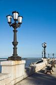 Vue panoramique du front de mer de bari. pouilles. — Photo