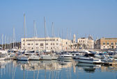 Panoramic view of Trani seaport. Apulia. — ストック写真