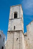 Belltower Mother Church. Polignano a Mare. Apulia. — Stock Photo