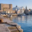 Panoramic view of Monopoli seaport. Apulia. - Stock Photo