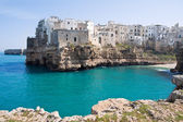 Panoramic view of Polignano a Mare. Apulia. — Stock Photo