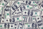 Background with american dollar bills — Stock Photo