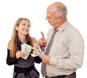 Father Giving Daughter Spending Money — Stock Photo