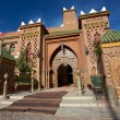 Entrance of a Riad iin Morocco - Stock Photo