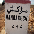 Marrakech 414 km — Stock Photo
