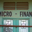 Closed micro finance office — Stockfoto