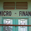 Closed micro finance office — Stock Photo